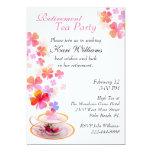 Stylish Ladies Retirement Tea Party Invitation 13 Cm X 18 Cm Invitation Card