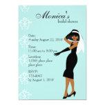 "Stylish Lady 5"" X 7"" Invitation Card"