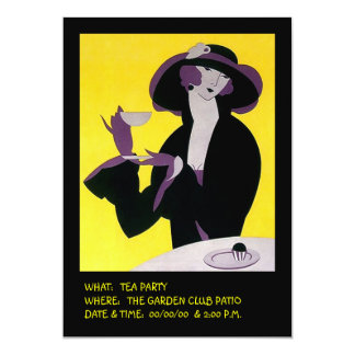 Stylish Lady High Tea Afternoon Invitations Party