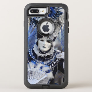 Stylish Lady in Blue Carnival Costume OtterBox Defender iPhone 8 Plus/7 Plus Case