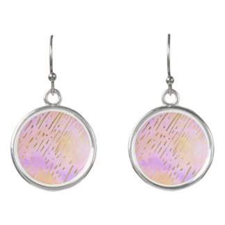 Stylish Lady Pink and Gold Earrings