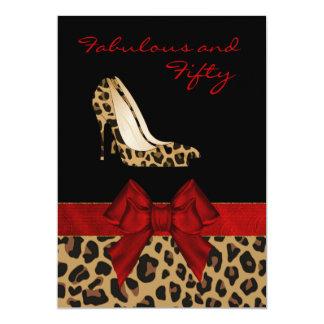 Stylish Lady's Jaguar Stiletto Custom Invitation