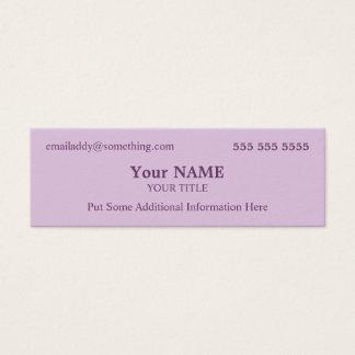Stylish Lavender Mini Business Card