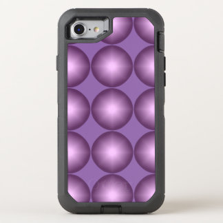 Stylish Lavender Modern Polka Dot OtterBox Defender iPhone 7 Case