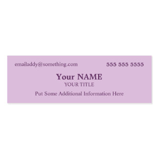 Stylish Lavender Pack Of Skinny Business Cards