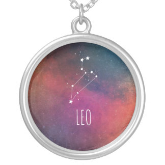Stylish Leo Silver Plated Necklace