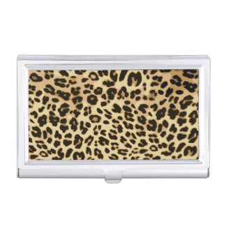 Stylish Leopard Animal Print Business Card Case