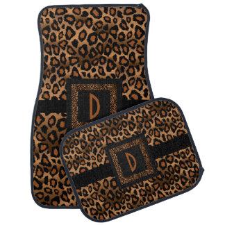 Stylish Leopard Animal Print Pattern   Brown Car Mat