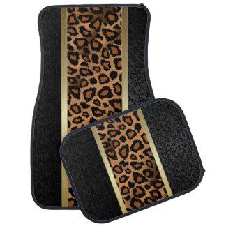 Stylish Leopard Animal Print Pattern   Damask Car Mat