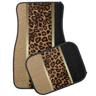 Stylish Leopard Animal Print Pattern   Tan Floor Mat