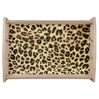 Stylish Leopard Animal Print Serving Tray