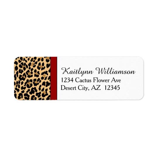 Stylish Leopard Print and Red Accent