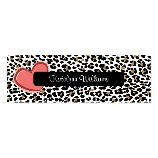Stylish Leopard Print Heart Appointment Card Business Card