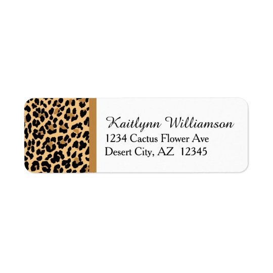 Stylish Leopard Print Return Address Label