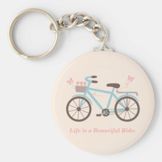Stylish Life is a Beautiful Ride Bicycle Quote Key Ring