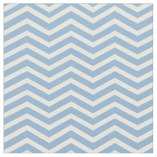 Stylish Light Blue and White Chevron Pattern Fabric