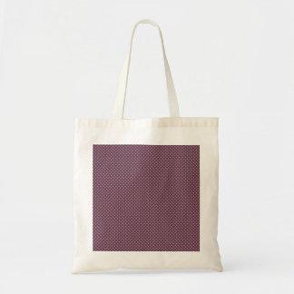 Stylish light brown turbines on purple background canvas bag