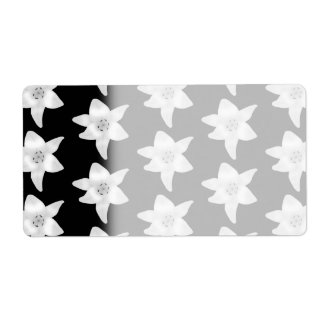 Stylish Lily Pattern in Black and White.