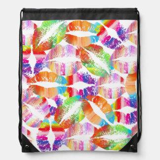 Stylish Lips #20 Drawstring Backpack