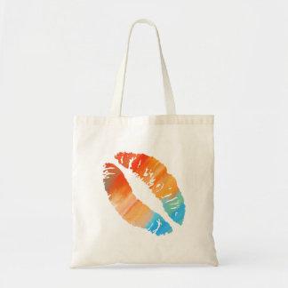Stylish Lips Budget Tote Bag