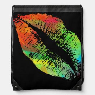Stylish Lips Drawstring Backpack
