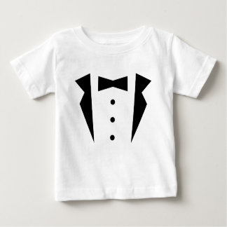 Stylish Little Gentleman Tuxedo With Black Bow Tie Baby T-Shirt