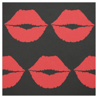 Stylish Luscious Big Red Lips Hot Kiss Mouth Lips