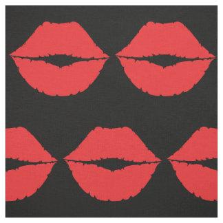 Stylish Luscious Big Red Lips Hot Kiss Mouth Lips Fabric