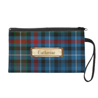 Stylish MacDonald Colorful Tartan Plaid Wristlet Clutches