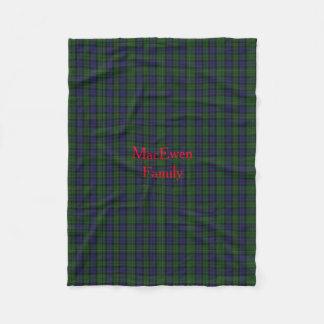 Stylish MacEwen Plaid Fleece Blanket