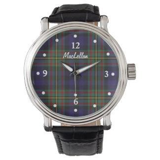 Stylish MacLellan Plaid Faced Custom Watch