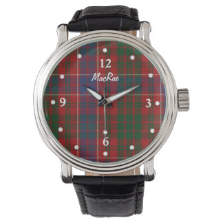 Stylish MacRae Plaid Faced Custom Watch