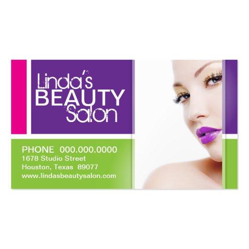 Stylish makeup artist business card template zazzle for Makeup artist business cards examples