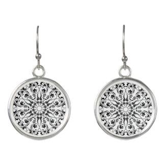 Stylish mandala themed wearable art earrings