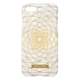 Stylish Marble and Gold Mandala Pattern iPhone 8/7 Case