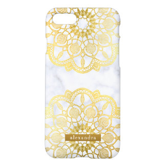 Stylish Marble and Gold Mandala Pattern iPhone 8/7 Case
