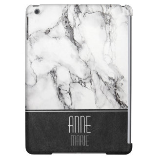 Stylish Marble and Leather Cover For iPad Air