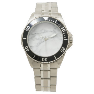 stylish marbled  wrist watch