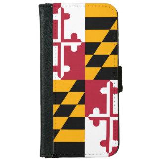 Stylish Maryland State Flag Decor iPhone 6 Wallet Case
