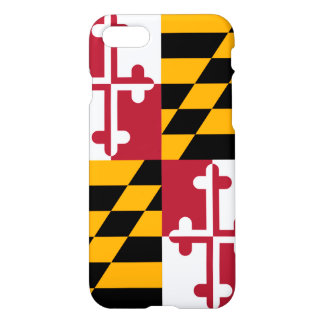 Stylish Maryland State Flag Decor iPhone 7 Case