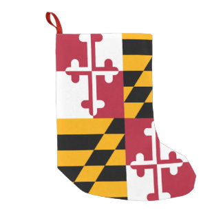Stylish Maryland State Flag Decor Small Christmas Stocking
