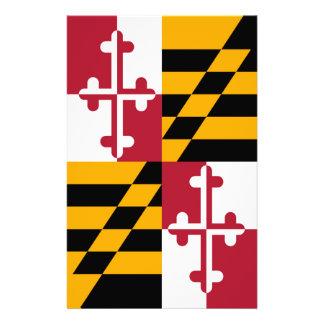 Stylish Maryland State Flag Decor Stationery Paper