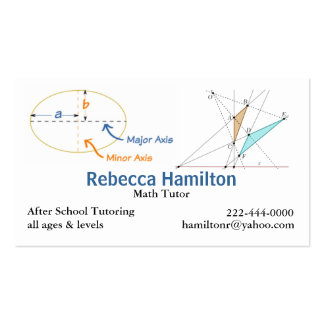 Stylish Math Tutor / Teacher's Business Card