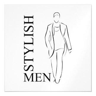 Stylish men magnetic invitations