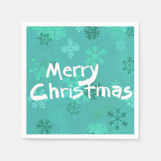Stylish Merry Christmas cocktail napkin Paper Napkins