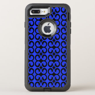 Stylish Midnight Blue and Black Pattern OtterBox Defender iPhone 8 Plus/7 Plus Case