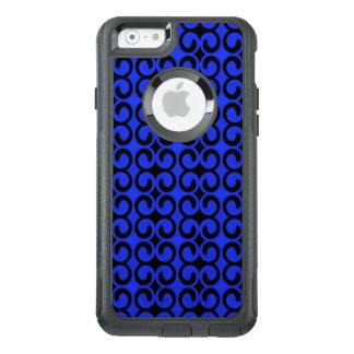 Stylish Midnight Blue and Black Pattern OtterBox iPhone 6/6s Case