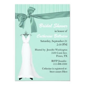 """Stylish Mint Green Bridal Shower Invitation 5"""" X 7"""" Invitation Card"""