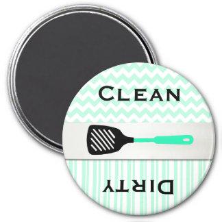 Stylish Mint Green Patterns Dishwasher Magnet