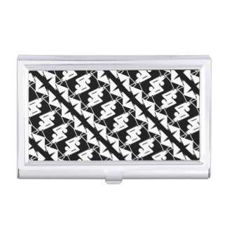 Stylish Mirrored Geometric & Abstract Pattern Business Card Holder